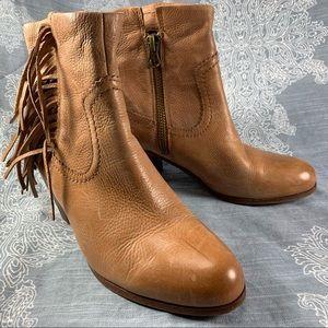 Sam Edelman fringe western style bootie